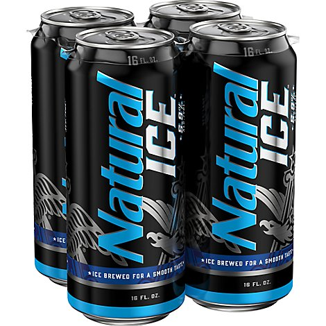 Natural Ice In Cans - 4-16 Fl. Oz.