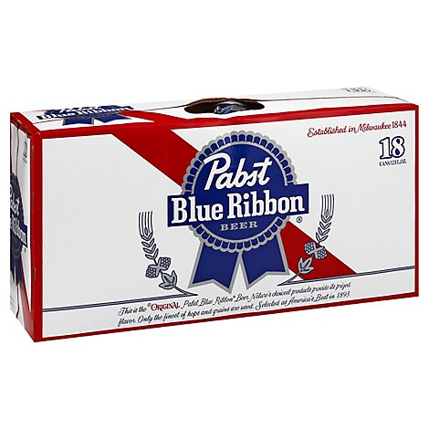 Pabst Blue Ribbon Beer Cans - 18-12 Fl. Oz.