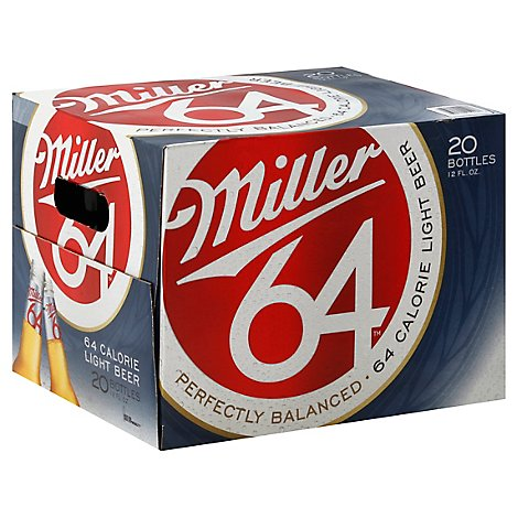 Miller64 Light Lager Beer Bottles 2.8% ABV - 20-12 Fl. Oz.