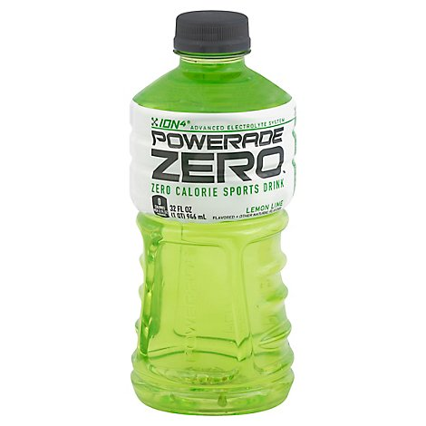 POWERADE Sports Drink Electrolyte Enhanced Zero Sugar Lemon Lime - 32 Fl. Oz.