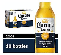 Corona Extra Beer Mexican Lager 4.6% ABV Bottle - 18-12 Fl. Oz.