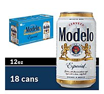 Modelo Especial Beer Mexican Lager 4.4% ABV Cans - 18-12 Fl. Oz.