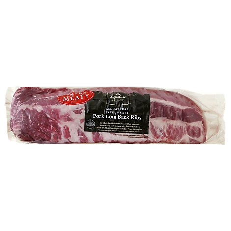 Signature SELECT Pork Loin Back Ribs Extra Meaty - 3.25 Lbs.