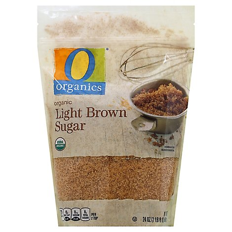 O Organics Organic Sugar Brown Light - 24 Oz