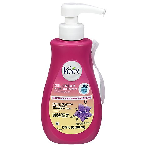 VEET Hair Remover Gel Cream for Legs & Body Silk and Fresh Technology- 13.5 Fl. Oz. Pump Bottle