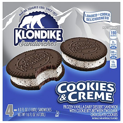 Klondike Ice Cream Sandwiches Oreo - 4-4 Fl. Oz.