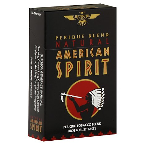 American Spirit Cigarettes Black Perique Box - Pack