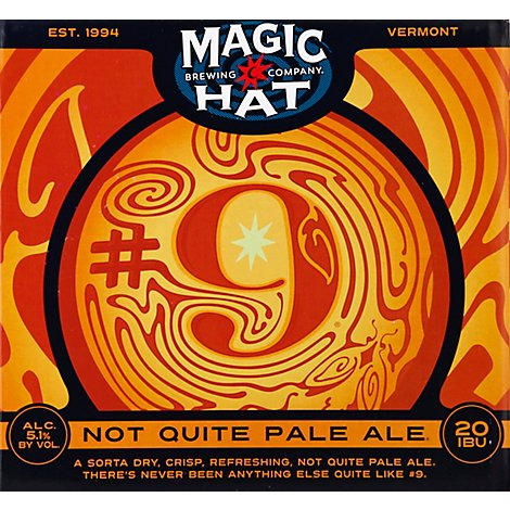 Magic Hat Beer Not Pale Ale Bottle - 12-0.75 Fl. Oz.