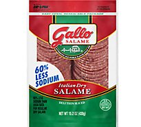 Gallo Salame Deli Thin Sliced Italian Dry Salame 15.2 Oz