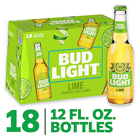 Bud Light Lime Bottles - 18-12 Fl. Oz.