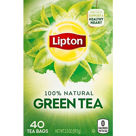 Lipton Green Tea Pure Bags - 40 Count