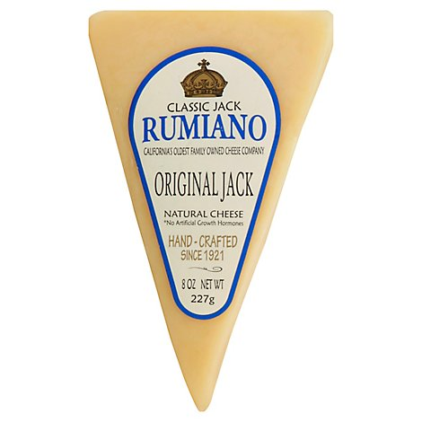 Rumiano Classic Jacks Cheese Original Jack Wedge - 8 Oz