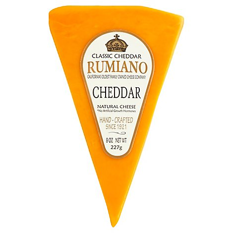 Rumiano Classic Jacks Cheese Cheddar Wedge - 8 Oz