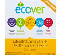 Ecover Automatic Dishwasher Tablets Citrus Box 25 Count - 17.6 Oz