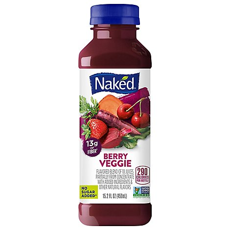 Naked Juice Smoothie Veggies Berry Veggie - 15.2 Fl. Oz.