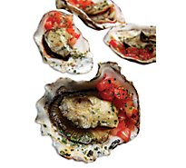 Seafood Counter Oysters Bbq Shell Farmed Fresh Service Case