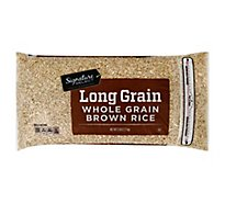 Signature SELECT Rice Brown Whole Grain Long Grain - 5 Lb
