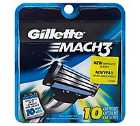 Gillette MACH3 Cartridges - 10 Count
