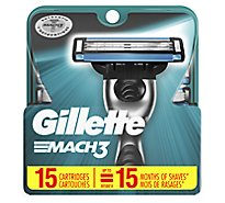 Gillette MACH3 Cartridges - 15 Count