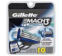 Gillette MACH3 Cartridges Turbo - 10 Count