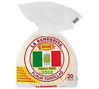 La Banderita Tortillas Flour Family Pack Bag 20 Count - 22.5 Oz