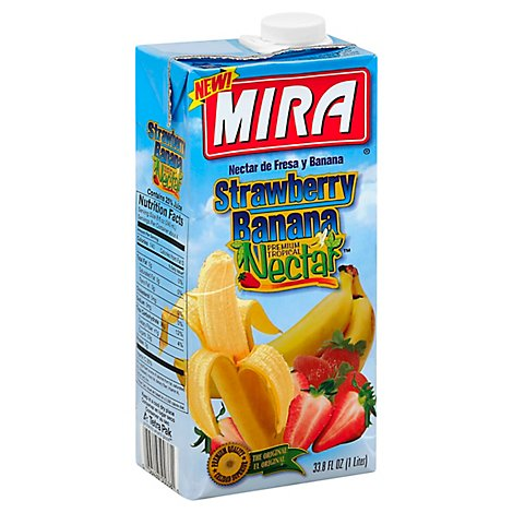 MIRA Fruit Nectar Strawberry Banana Brick - 33.8 Fl. Oz.