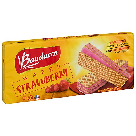 Bauducco Wafer Strawberry - 5.82 Oz