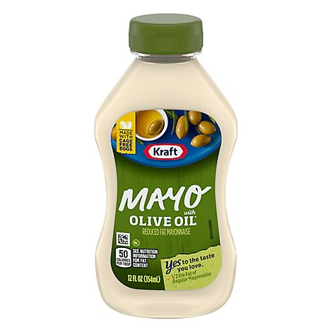 Kraft Mayo Mayonnaise Reduced Fat with Olive Oil Squeeze Bottle - 12 Fl. Oz.
