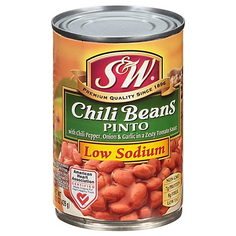 S&W Beans Chili 50% Less Sodium - 15.5 Oz
