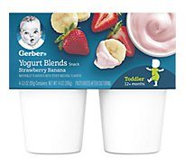 Gerber Baby Food Toddler Yogurt Blends Strawberry Banana - 4-3.5 Oz
