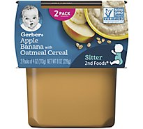 Gerber 2nd Foods Baby Food Blended Fruits With Oatmeal - 2-4 Oz