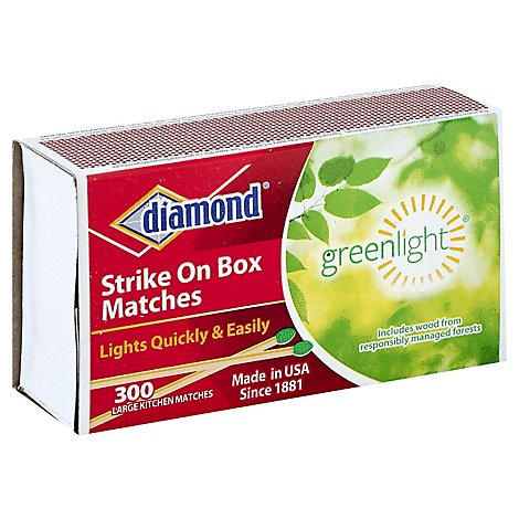 Diamond Matches Strike On Box - 300 Count