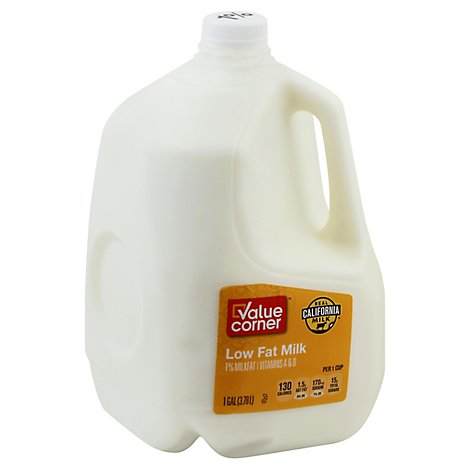 Value Corner Milk Lowfat 1% - 1 Gallon