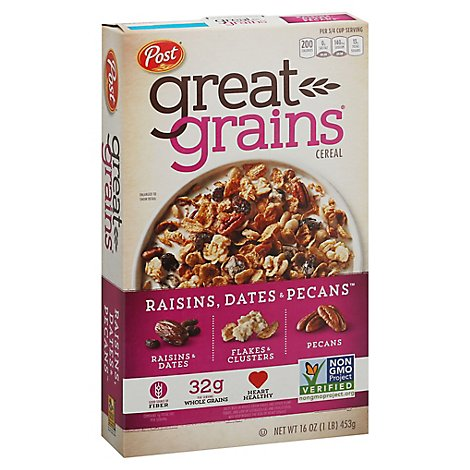 Great Grains Cereal Raisins Dates And Pecans - 16 Oz