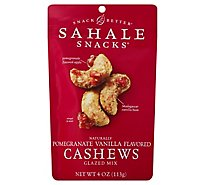 Sahale Snacks Snack Better Cashews Glazed Mix Naturally Pomegranate Vanilla Flavored - 4 Oz