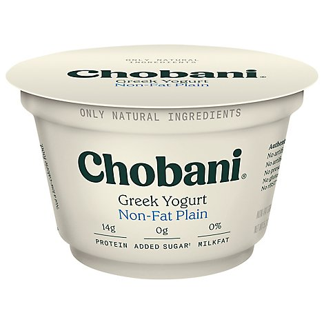 Chobani Yogurt Greek Non-Fat Plain - 5.3 Oz