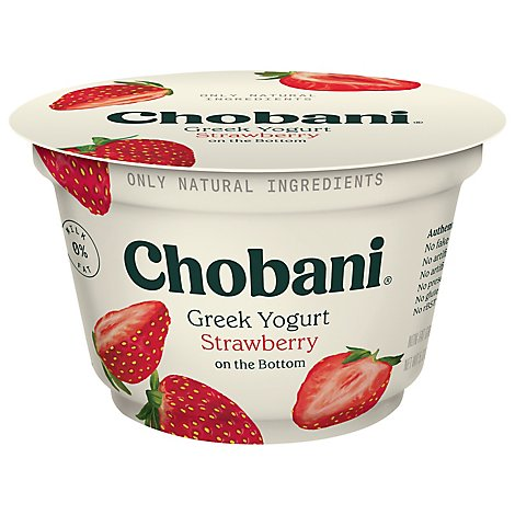 Chobani Yogurt Greek Fruit On The Bottom Non-Fat Strawberry - 5.3 Oz