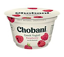 Chobani Yogurt Greek Fruit On The Bottom Non-Fat Raspberry - 5.3 Oz