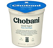 Chobani Yogurt Greek Non-Fat Plain - 32 Oz