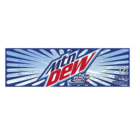 Mtn Dew Soda White Out Smooth Citrus Dew - 12-12 Fl. Oz.