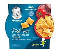 Gerber Pick-Ups Beef & Tomato Ravioli in a Beef Flavored Broth Tray 6 Oz