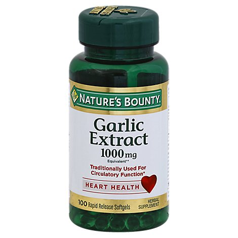 Natures Bounty Odorless Garlic - 100 Count