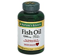 Natures Bounty Dietary Supplement Softgels Fish Oil 1200 mg Softgels - 120 Count