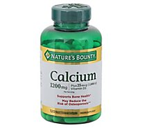 Natures Bounty Mineral Supplement Softgels Calcium 1200 mcg - 120 Count