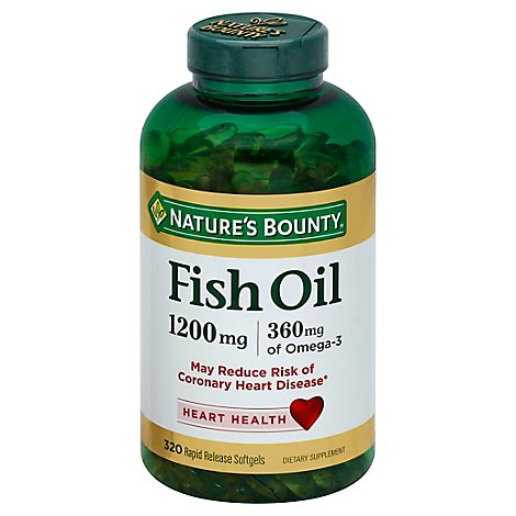 Natures Bounty Dietary Supplement Softgels Fish Oil 1200 mg - 320 Count