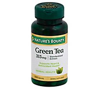 Natures Bounty Herbal Supplement Capsules Green Tea 315 mg - 100 Count