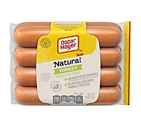 Oscar Mayer Selects Turkey Franks Hardwood Smoked Uncured - 16 Oz
