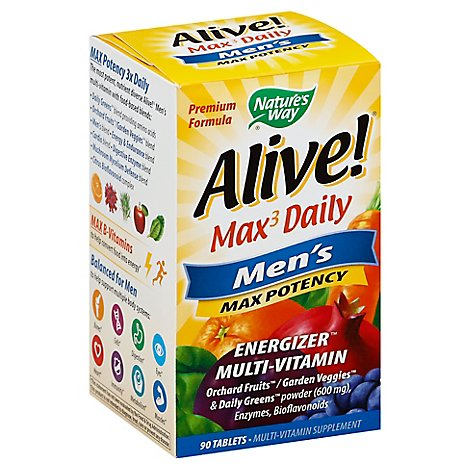 Natures Way Alive Mens Multi - 90 Count