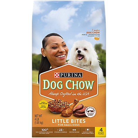 Dog Chow Dog Food Dry Little Bites Chicken & Beef - 4 Lb