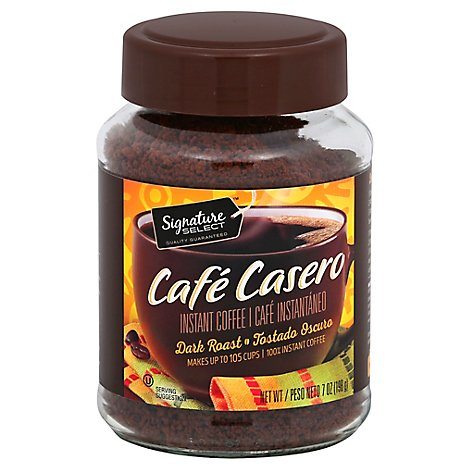 Signature SELECT/Kitchens Cafe Casero Coffee Instant Dark Roast - 7 Oz